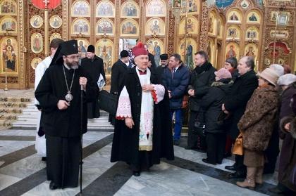 Metropolita Białostocki na nabożeństwie ekumenicznym w cerkwi