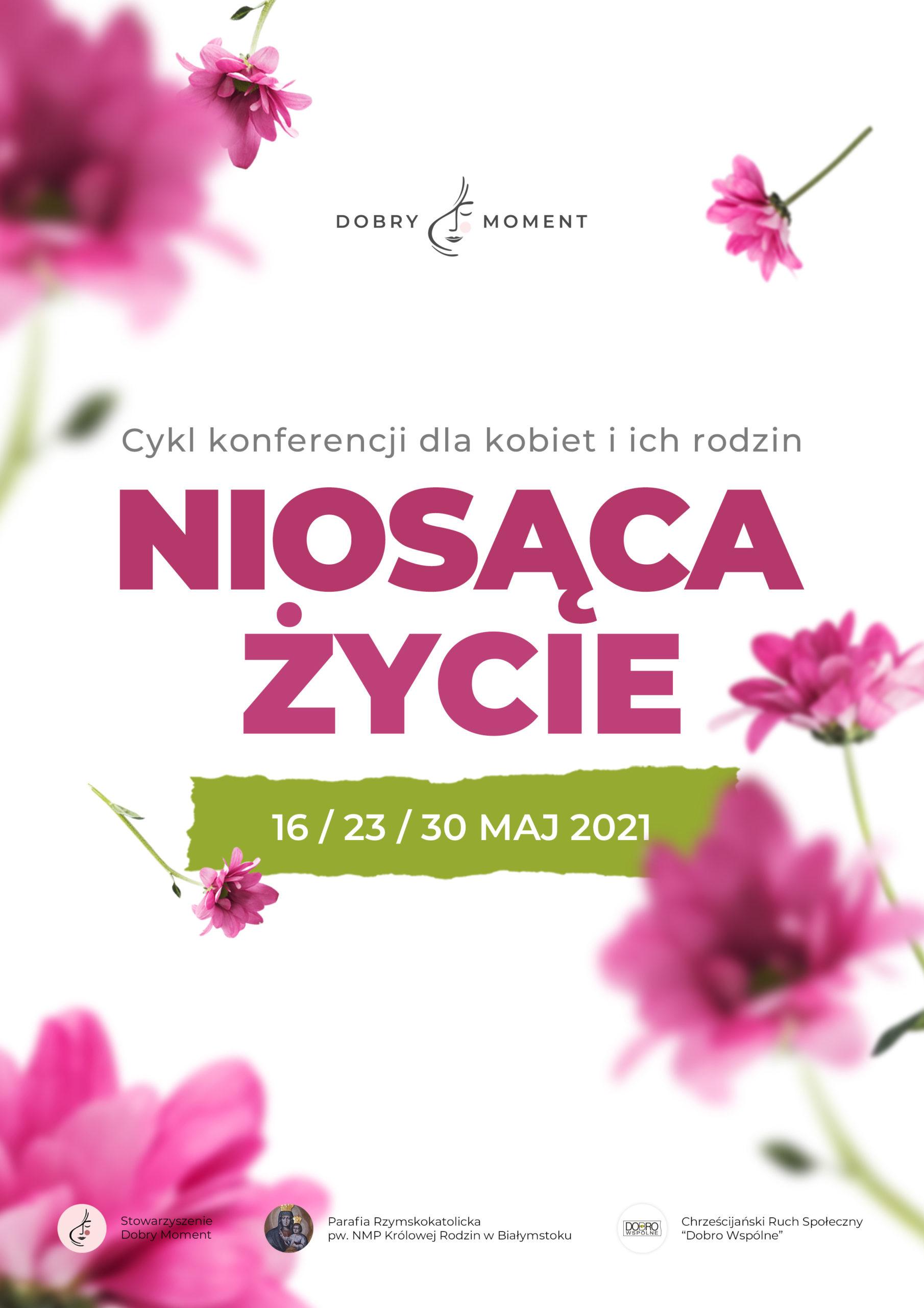 plakat konferencja pt. niosąca życie
